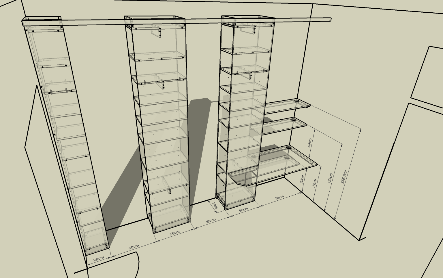 Using Google Sketchup To Test Room Layouts Catmaceys Stuff Etching Circuits At Home Geekdad The Shelves For Linving
