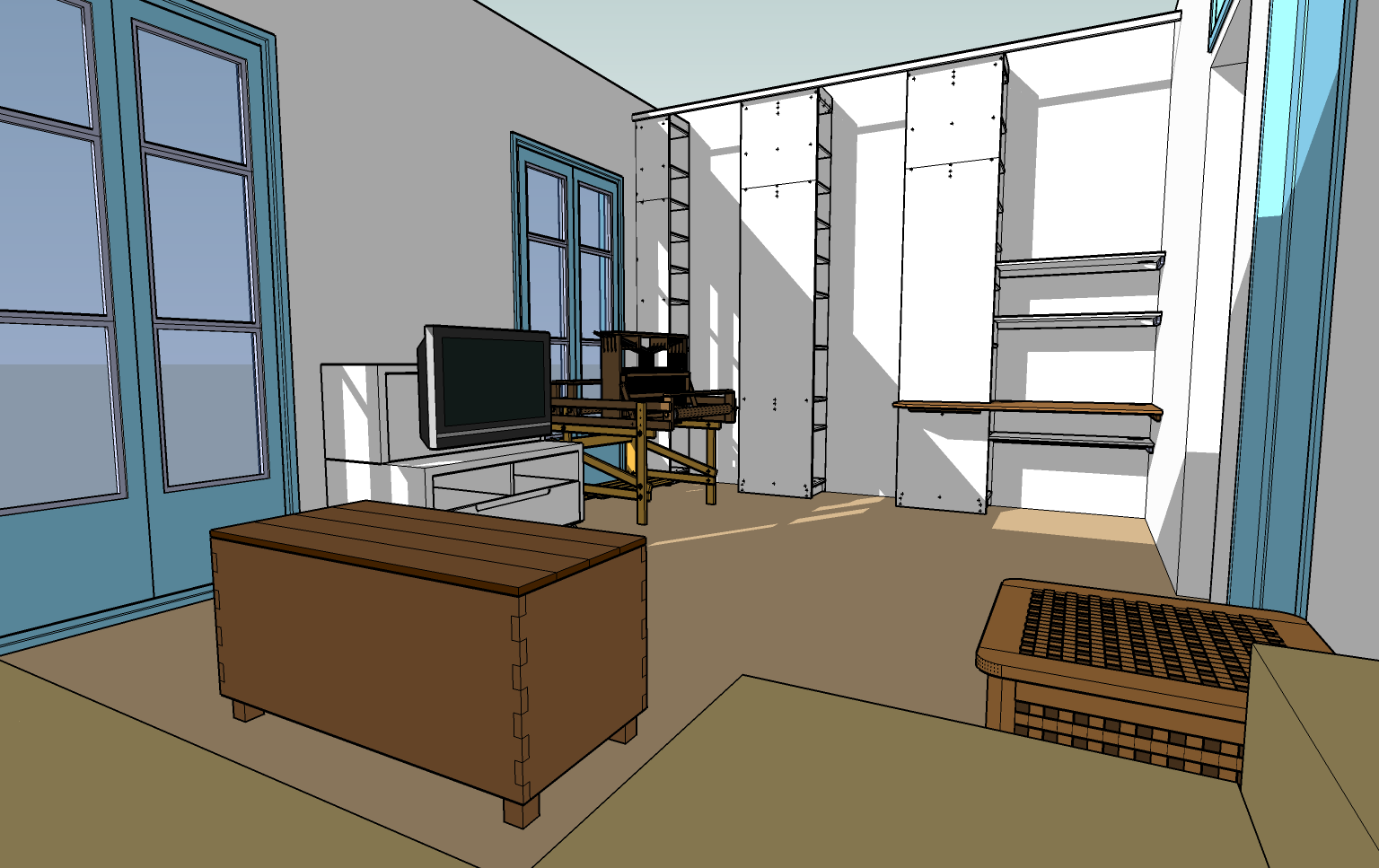 Using Google Sketchup To Test Room Layouts Catmaceys Stuff Etching Circuits At Home Geekdad Our New Living