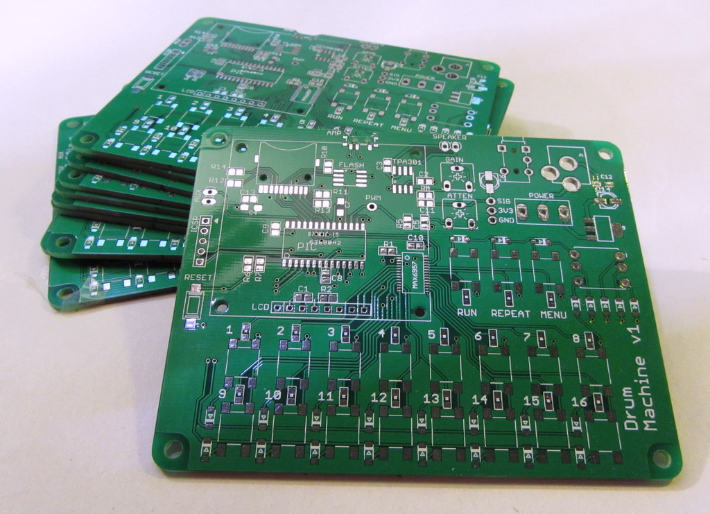 Drum machine version 1 PCBs for PIC24